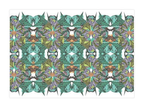 'Maze Tropical' Placemat Set of 4