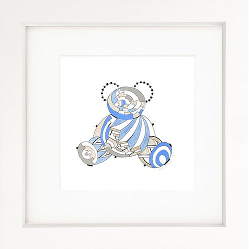 Baby Blue Teddy Painting