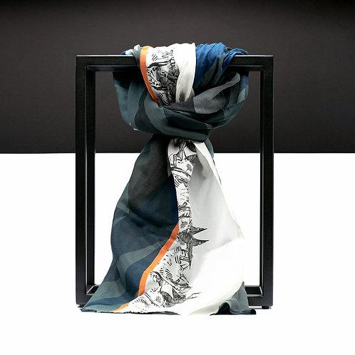 'Maze Web' Cotton/Silk Scarf