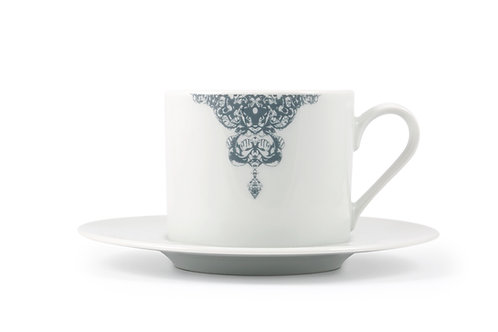 'Half lace' Cappuccino cup