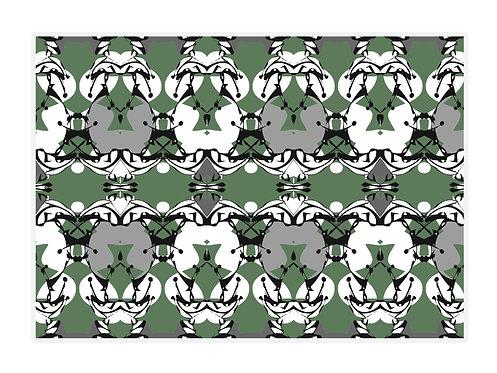 'Harlequin Butterflies' Placemat Set of 4