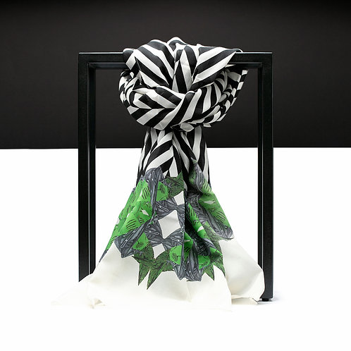 'Maze Chevron' Cotton/Silk Scarf