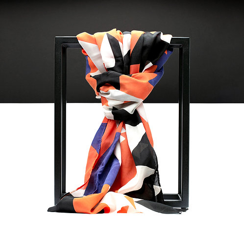 'Geometry Flag' Cotton/Silk Scarf