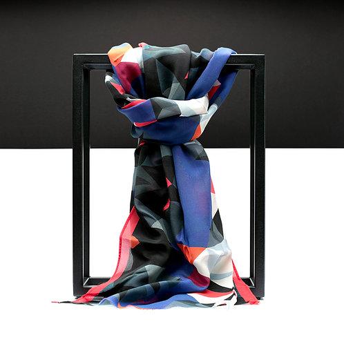 'Prism Chapel' Cotton/Silk Scarf