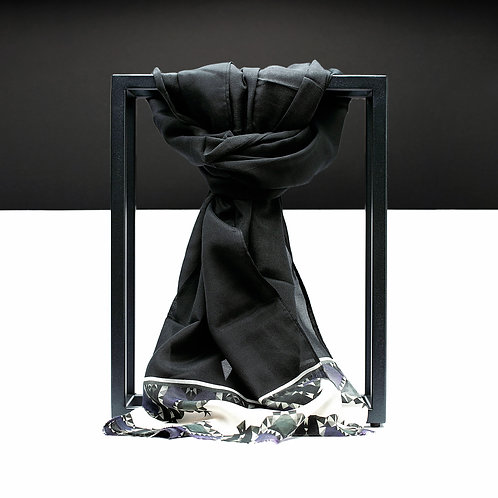 'Prism Bat' Cotton/Silk Scarf