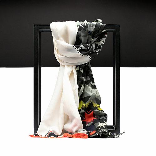 'Prism Army' Cotton/Silk Scarf