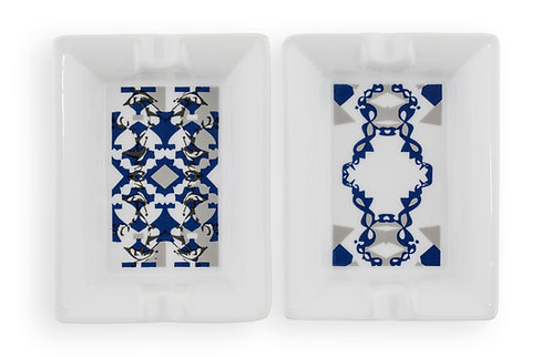 'DNA Harlequin' Ashtray Set