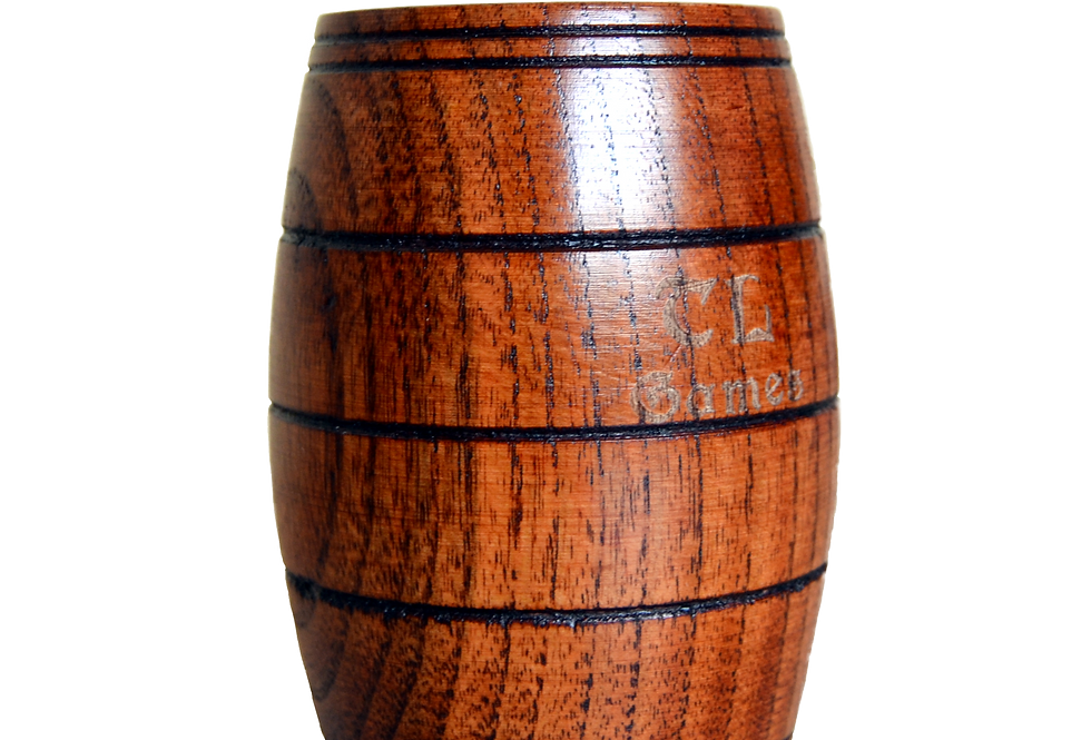 Fassbecher aus Holz zum Würfeln/Trinken