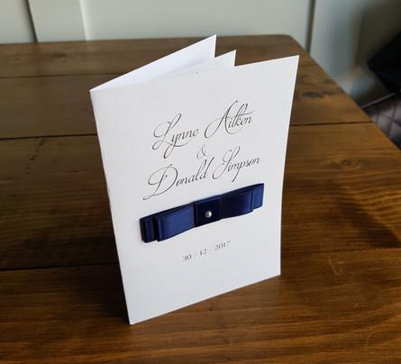 Lynne - Evening wedding invitation
