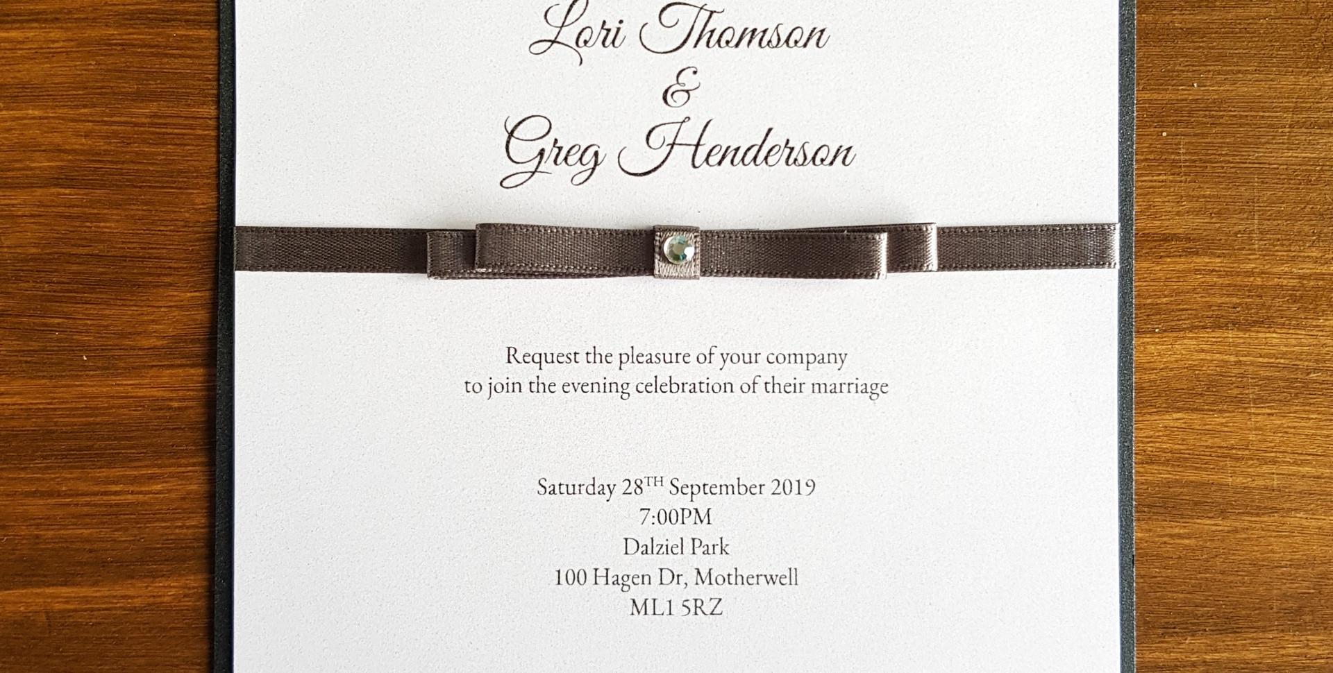Lori - Evening wedding invitation