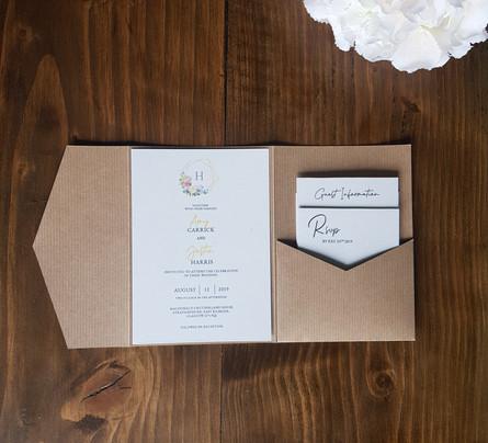 Amy - Day pocketfold invitation