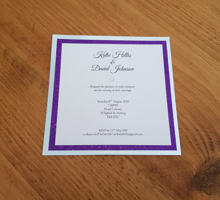 Katie - Evening wedding invitations