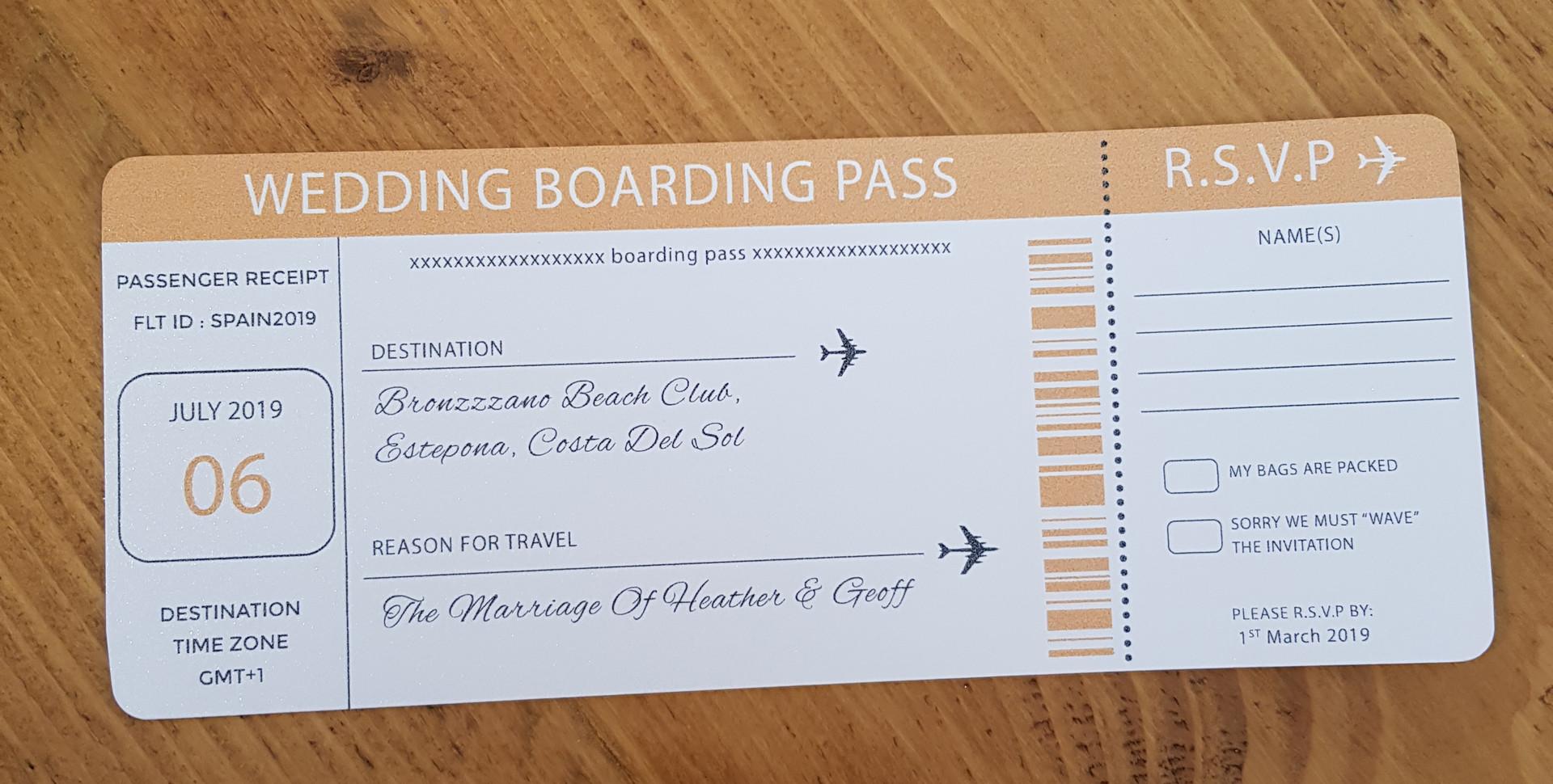 Heather - Boarding pass RSVP