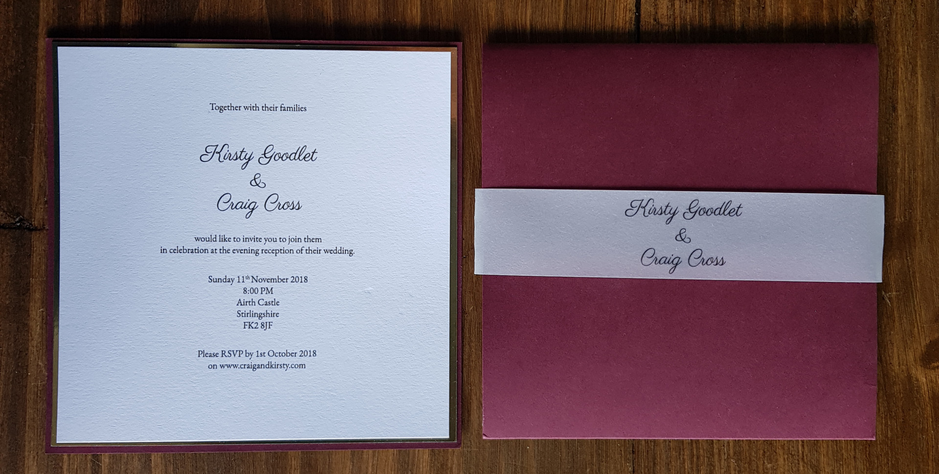Kirsty - Wedding invitations