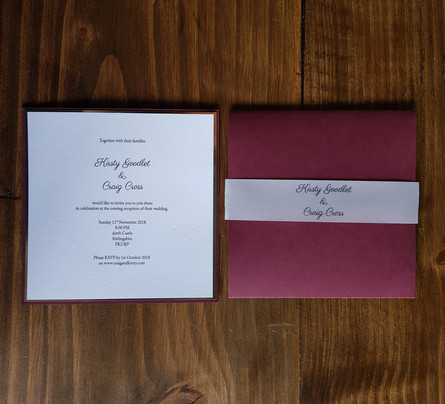 Kirsty - Wedding invitations