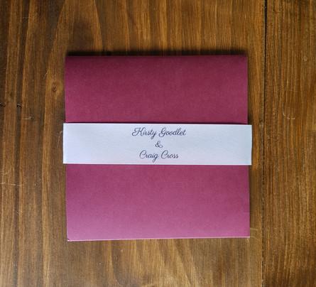 Kirsty - Day wedding invitation