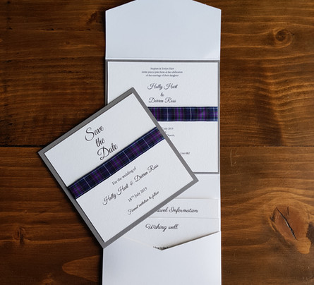 Holly - Save the date and wedding invita