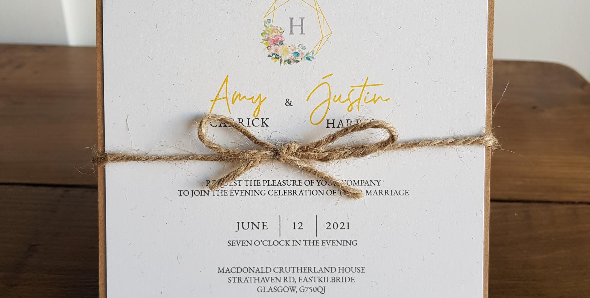 Amy - Evening wedding invitation