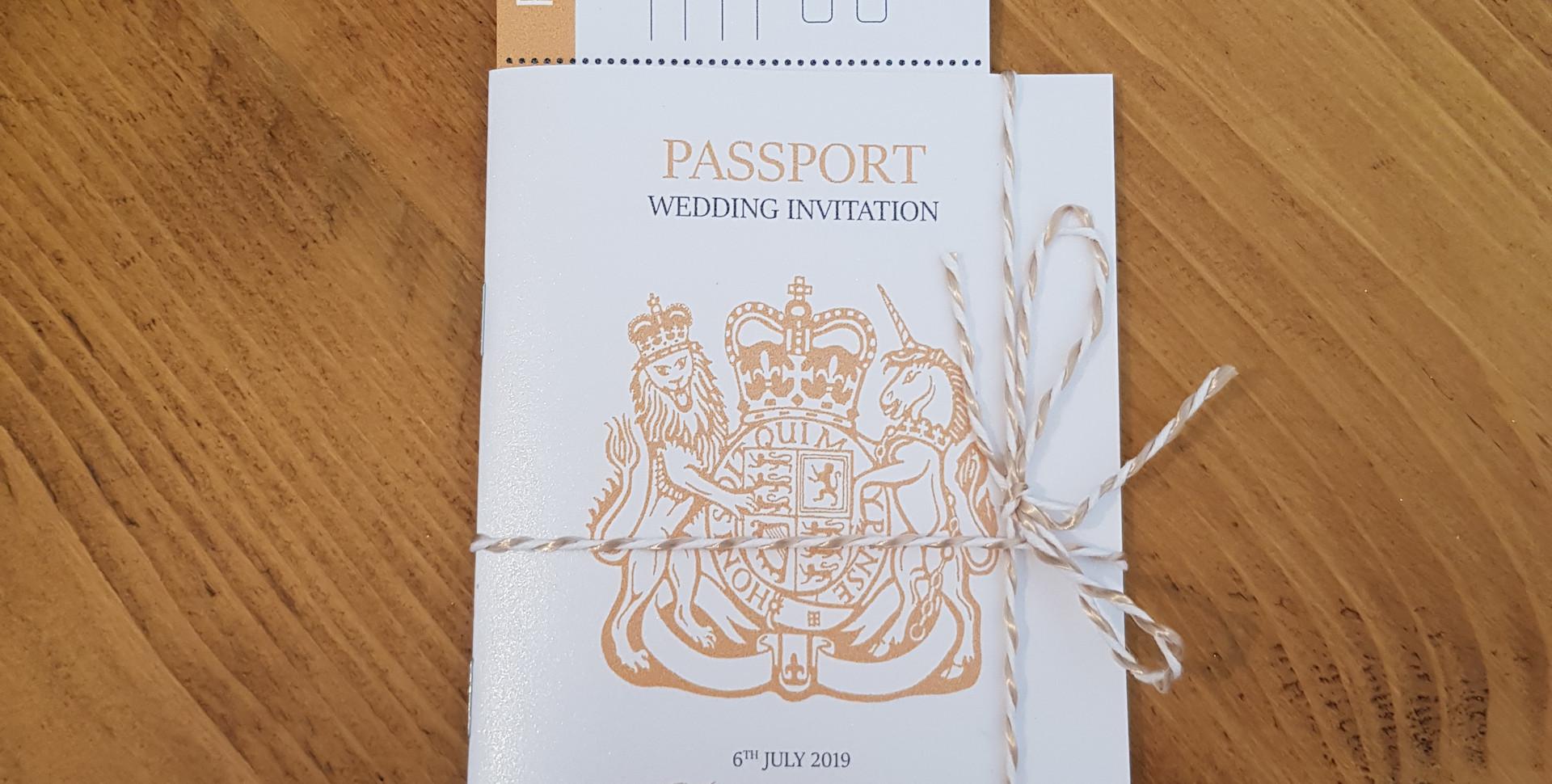 Heather - Passport and boarding pass invitation