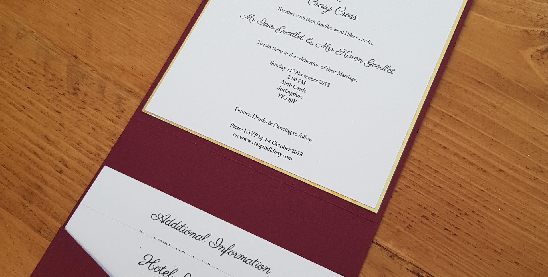Kirsty - Day wedding invitation