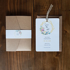 Amy - Save the date and wedding invitati