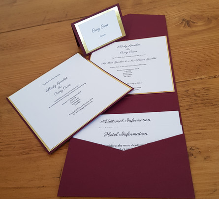Kirsty - Wedding invitations and place name
