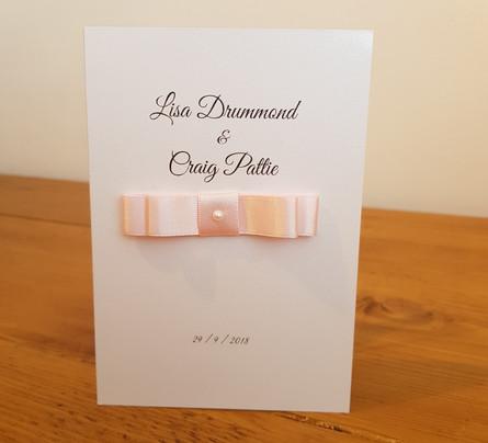 Lisa - Evening wedding invitation
