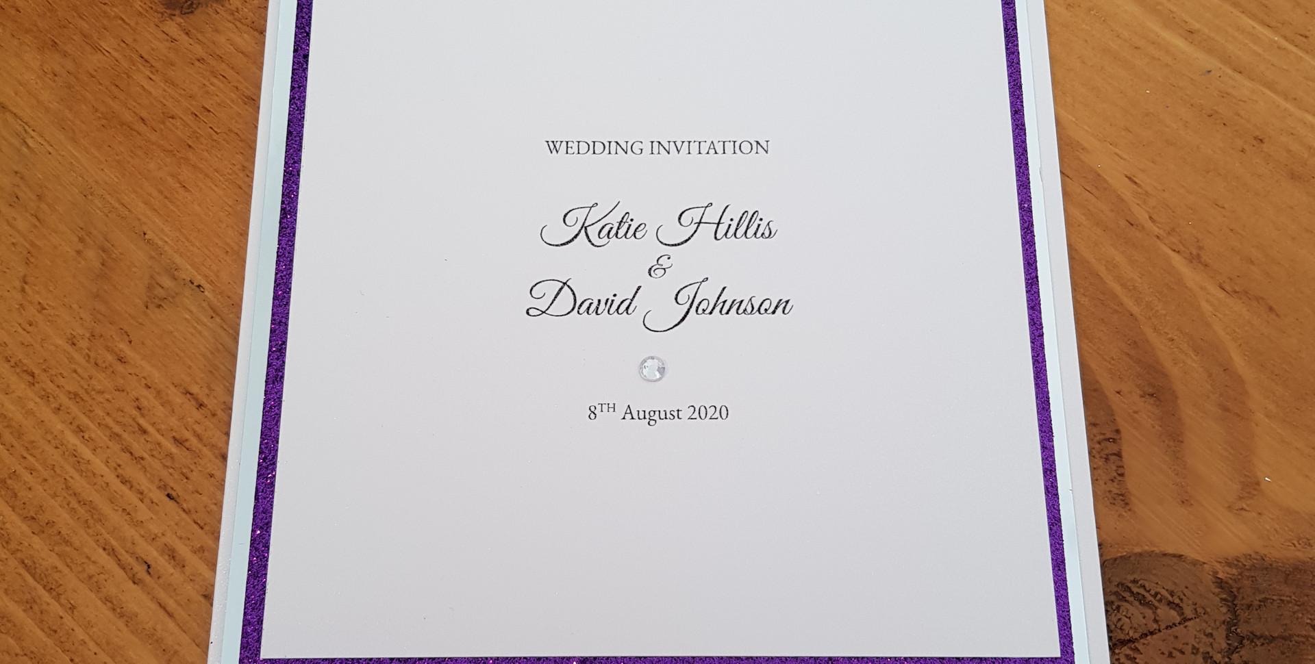 Katie - Day wedding invitations