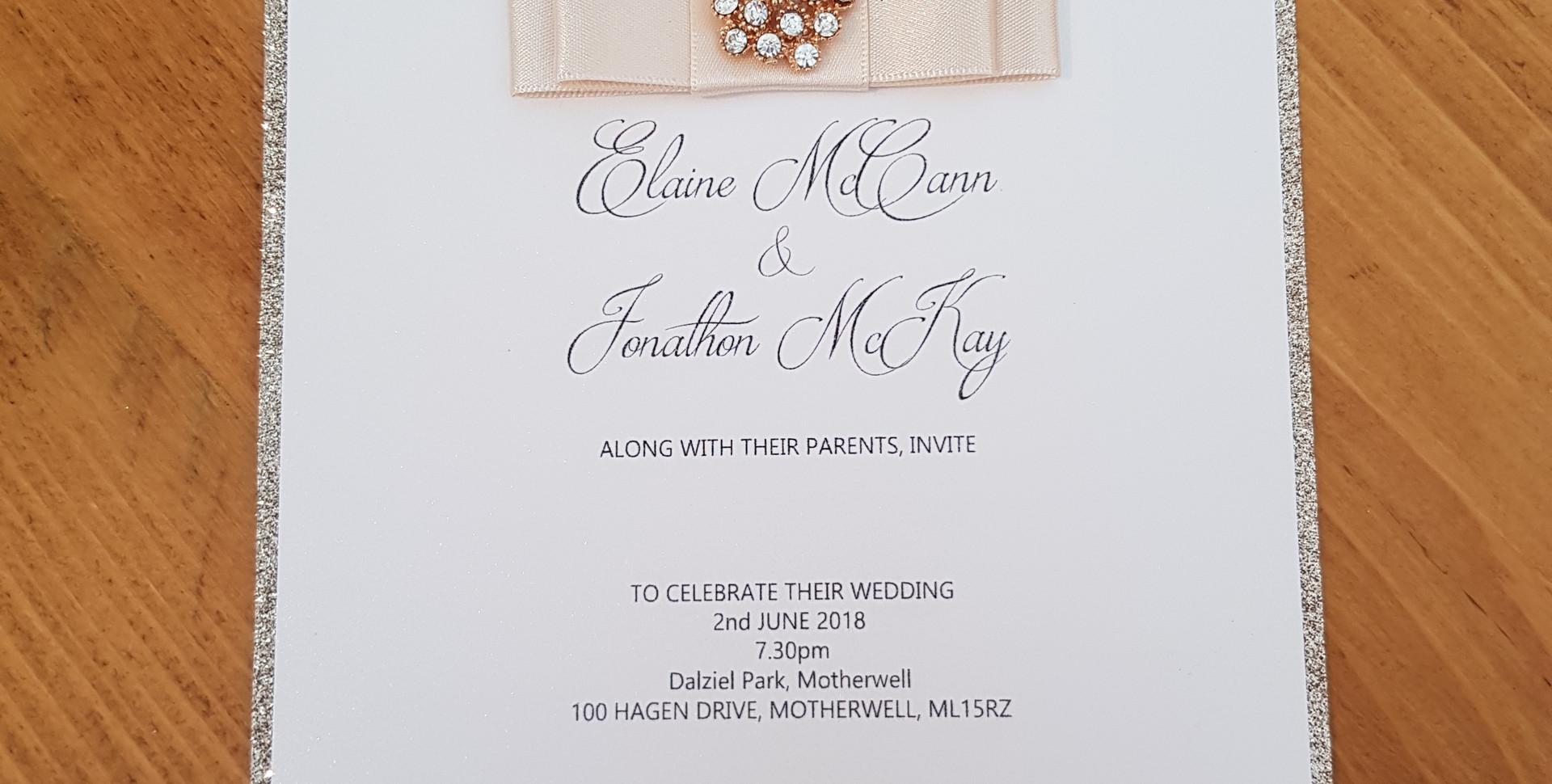 Elaine - Evening wedding invitation