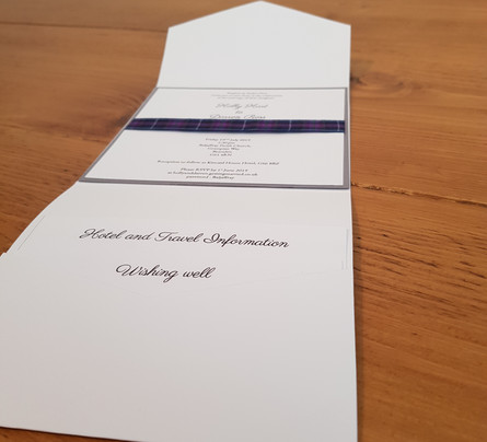 Holly - Day pocketfold invitation