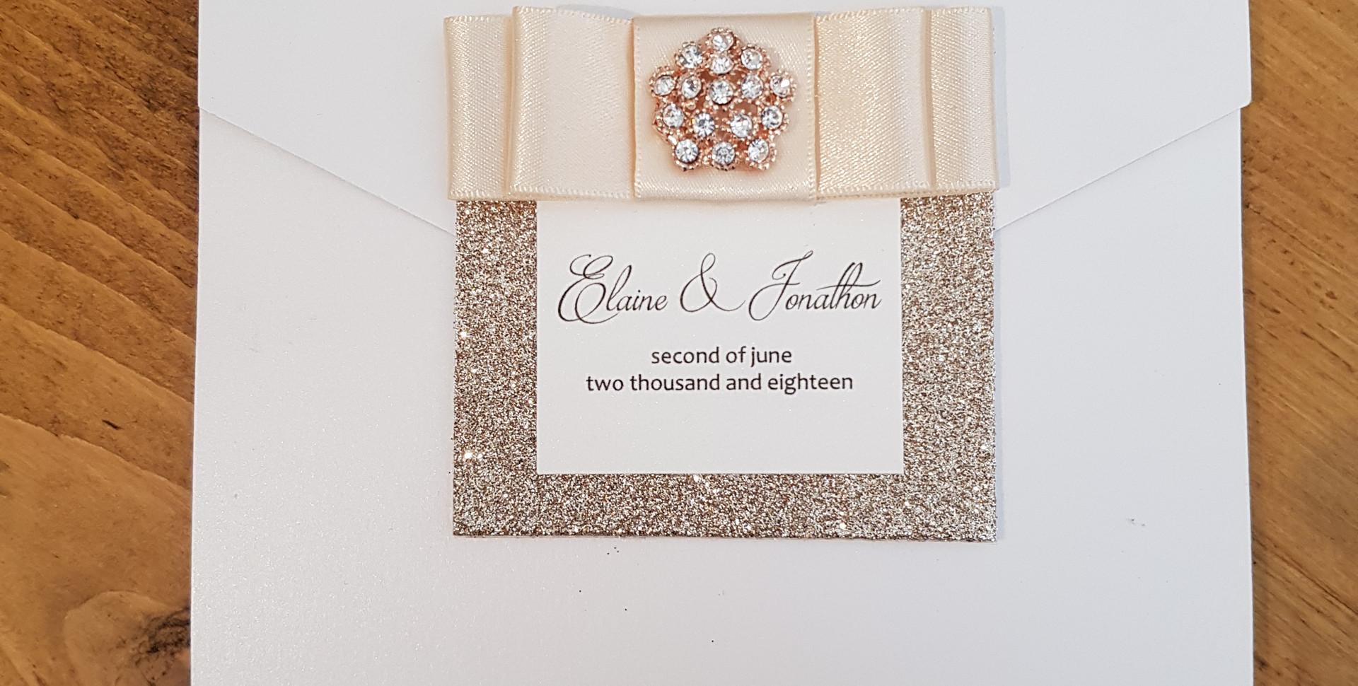 Elaine - Day wedding invitiation