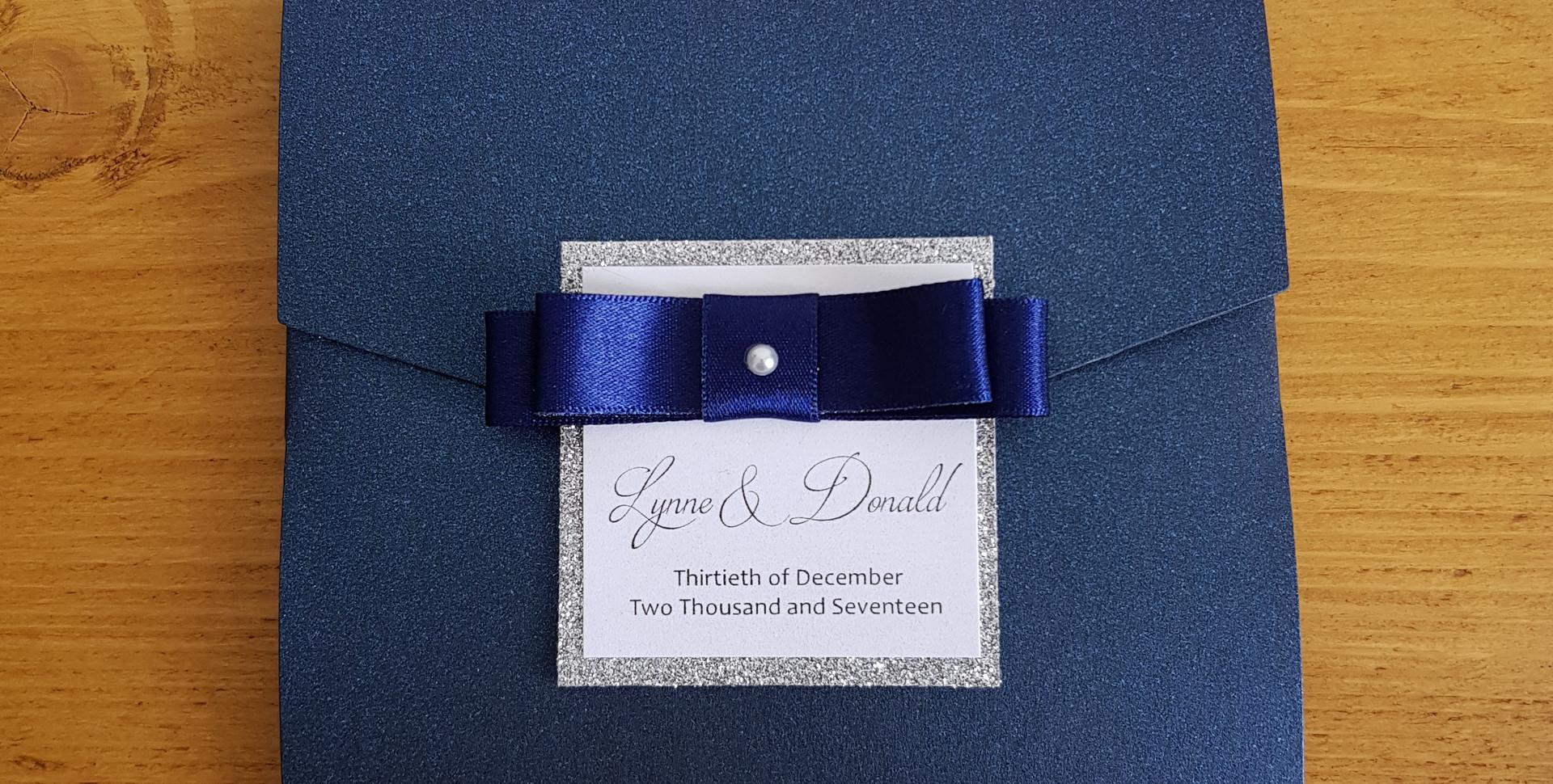 Lynne - Day wedding invitation