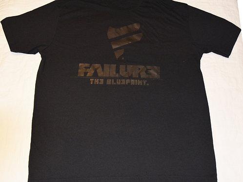Men's Failure Tshirt - Blk on Blk Glitter 60/40 Blend