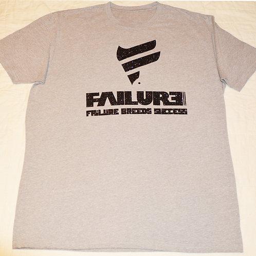 Men's Failure Tshirt -Glitter Black 60/40 Blend