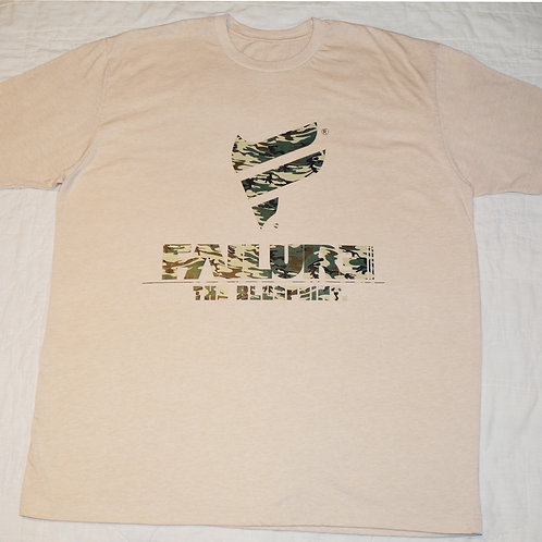 Men's Failure Tshirt - Green Camo 60/40 Blend