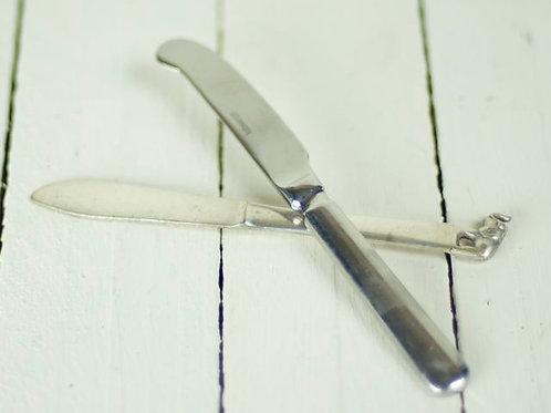 Silver Vintage Butter Knives