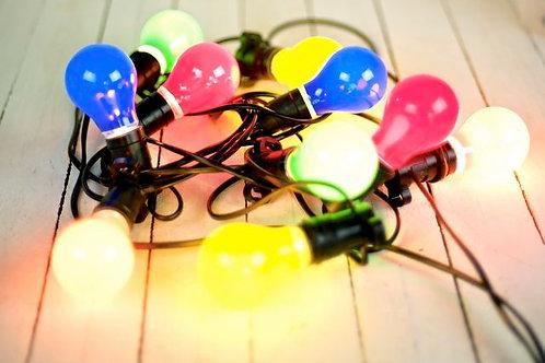 'Fiesta' Coloured Festoon Lights