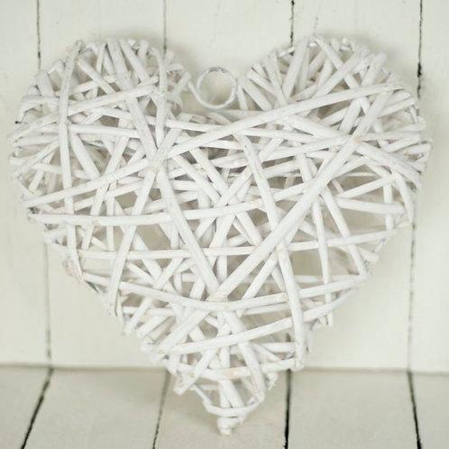 'Heartu' White Woven Heart