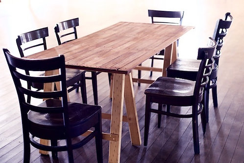 'Would That You Wood' - Wooden Trestle Table