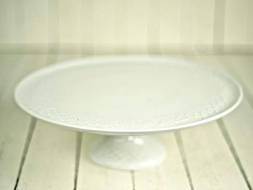 'Dolly' White Ceramic Cake Stand