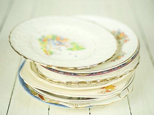 'China' - Vintage Fine Bone China Dinner Plates