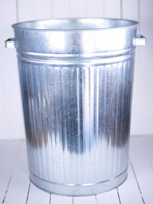 'Titan' Large Silver Rubbish Bin