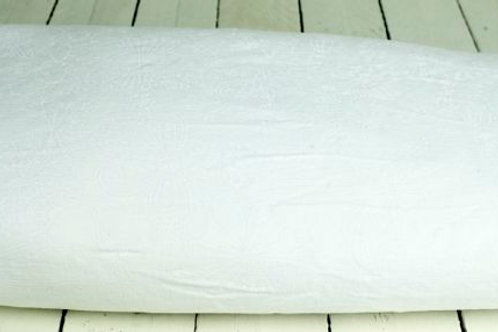 'Bridgette' - White Floral Fabric Aisle Runner