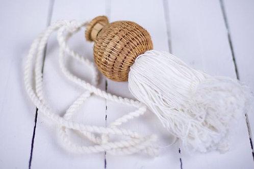 'Vanuatu' Large Raffia & Cotton Tassel