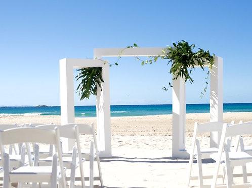 'Pragma' - White Three Piece Wedding Arch