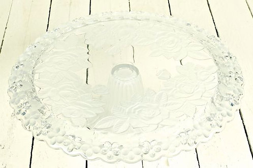 'Lace' - Glass Floral Cake Stand