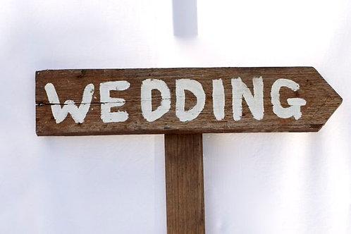 'Wedding Way' - Rustic Wedding Arrow Sign