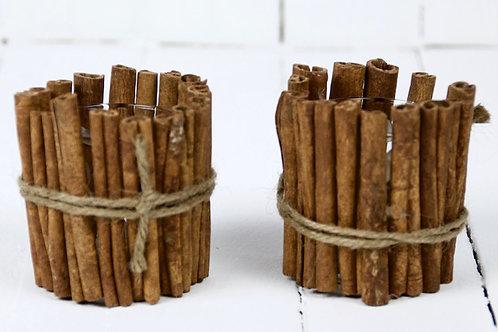 Cinnamon wrapped tea light holder hire Brisbane wedding & event styling
