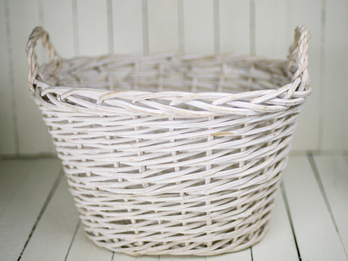 'A Basket Full Of Love' - Large White Basket