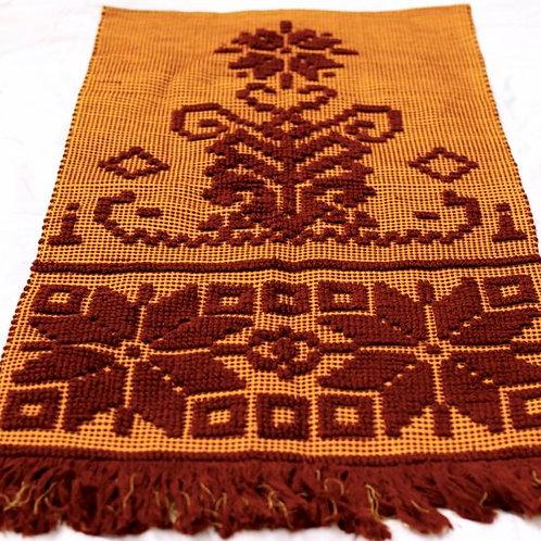 'Aztec' - Orange & Brown Retro Rug
